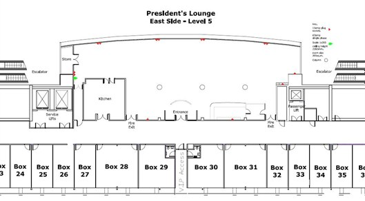 Presidents Lounge Plan